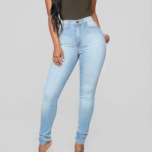 2 pair -Fashion Nova -High Waisted Jeans - Size 3.